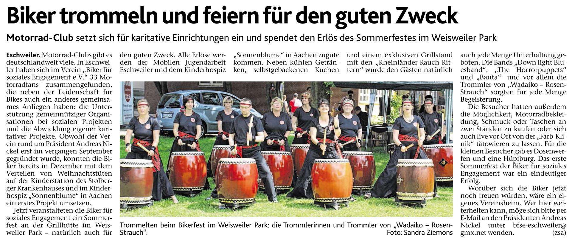 Sommerfest der Biker für Soziales Engagement e. V.